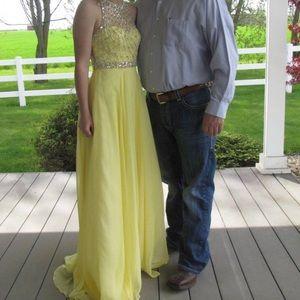 Yellow Prom/Pageant dress! Blush brand size 0!